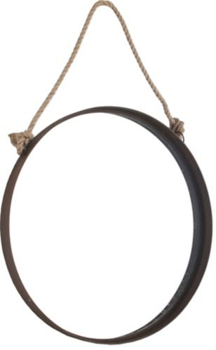 Round Rope Wall Mirror, 24-in