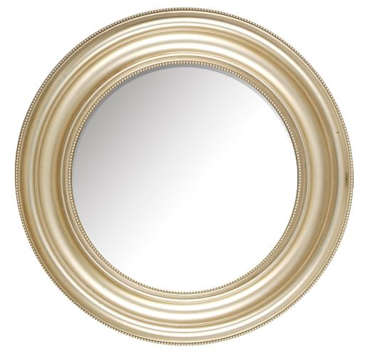 Roma Round Silver Bevelled Wall Mirror, 24-in