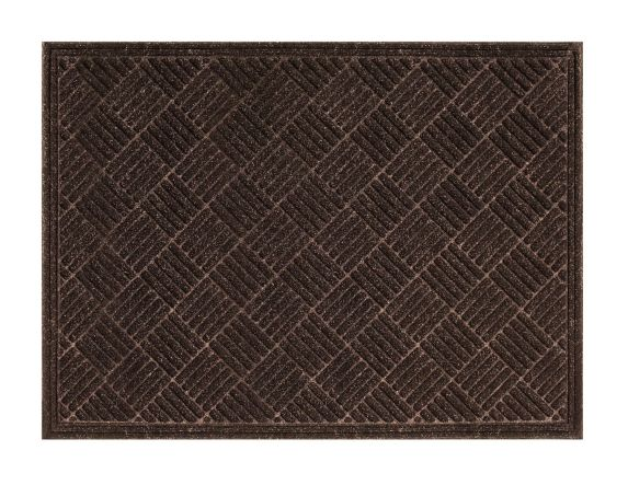 Multy Home Contours Parquet Rubber Floor Mat, Brown Product image