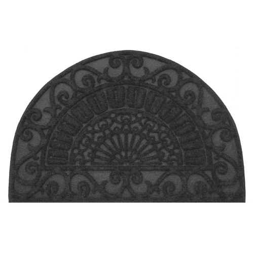 Multy Home Half Moon Contours Rubber Floor Mat, Cocoa, 2 x 3-ft Product image