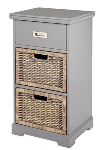 Armoire Canvas Easton à 3 tiroirs, gris