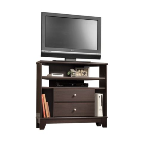 Sauder Camarin Corner TV Stand, Jamocha Wood Product image