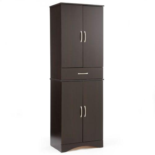 Armoire System Build à 4 portes avec tiroir, forêt noire Image de l'article