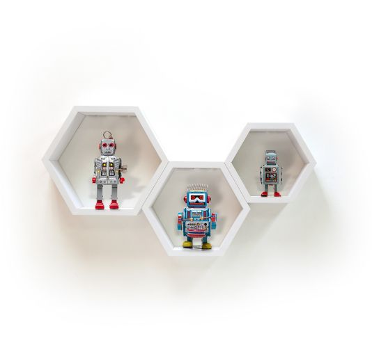 CANVAS Floating Hexagon Wall Shelf Set, 3-pc Product image