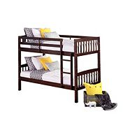Dorel Twin Over Twin Bunk Bed, Espresso