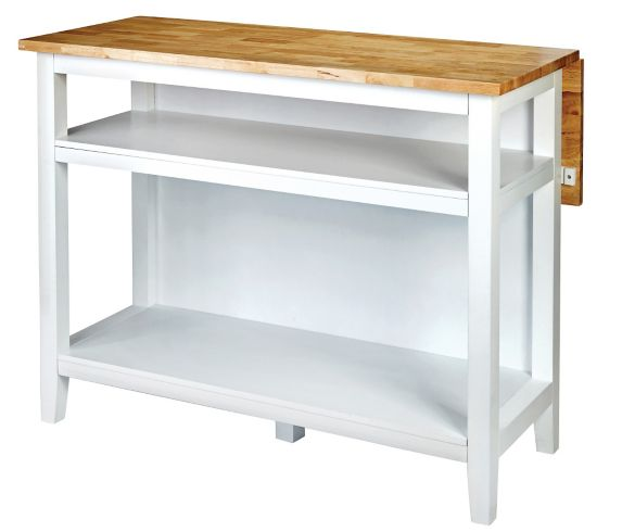 For Living Kitchen Island With Folding Leaf White Canadian Tire