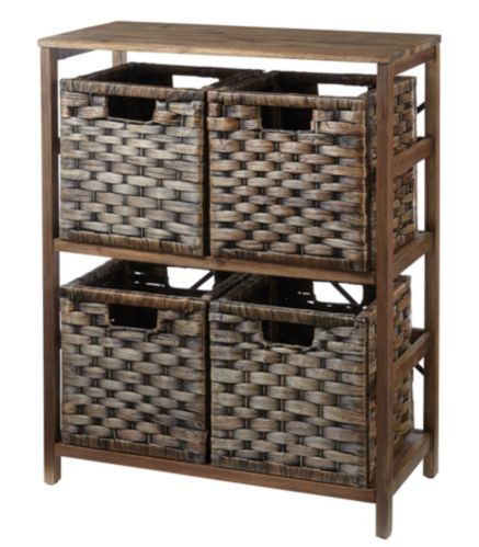 For Living Kirana Wicker 4-Drawer Storage Unit Product image