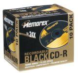 Memorex Printable CD-R, 10-pk, Black | Memorexnull