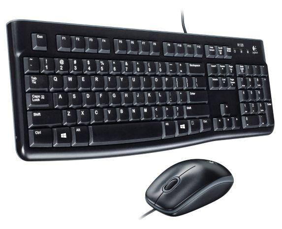 Logitech Desktop Keyboard & Mouse Combo, Black