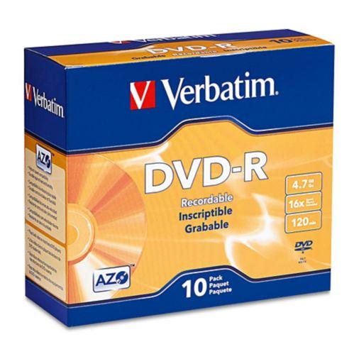 Disques DVD-R Verbatim, paq. 10 Image de l'article