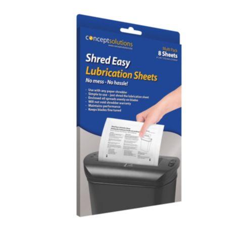 Shredder Lubrication Sheets, 8-pk
