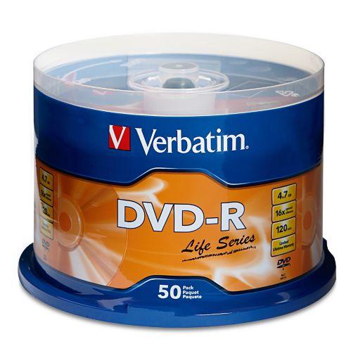 Disques DVD-R Verbatim, paq. 50 Image de l'article