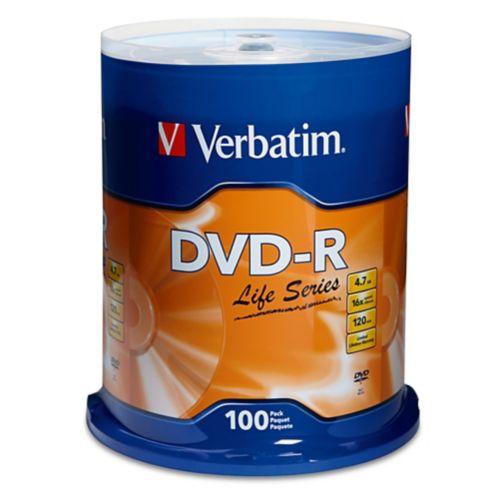 Disques DVD-R Verbatim, paq. 100 Image de l'article