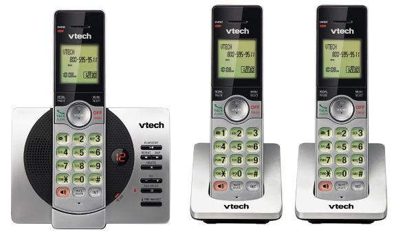 VTech 3 Handset Cordless Phones with Digital Answering System Product image
