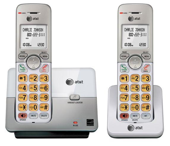 Téléphone AT&T, 2 combinés sans fil avec afficheur