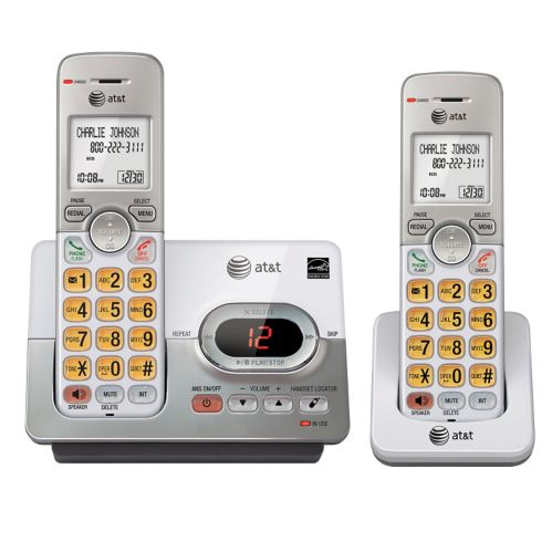 AT&T 2 Handset Cordless Phones with Digital Answering System Product image