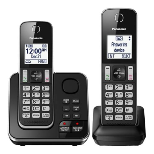 Panasonic 2-Handset Cordless Phone with Answering System Product image