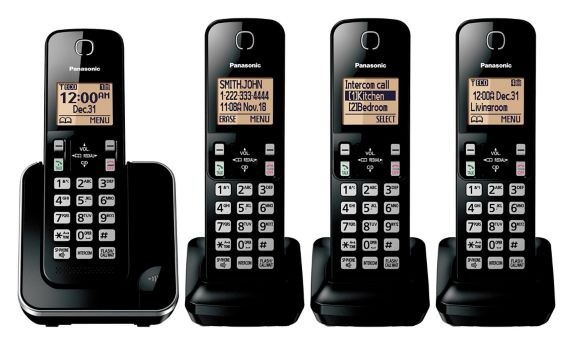 Panasonic 6.0 DECT Large Display Cordless Phone, 4-Handsets Product image