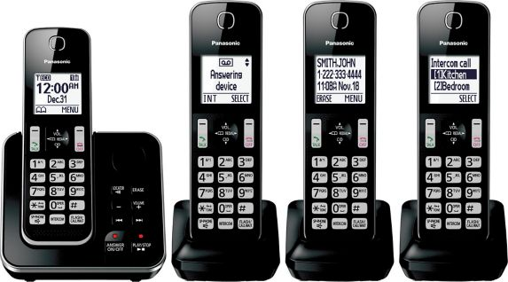 Panasonic 6.0 DECT Cordless Phone with Digital Answering, 4-Handsets Product image