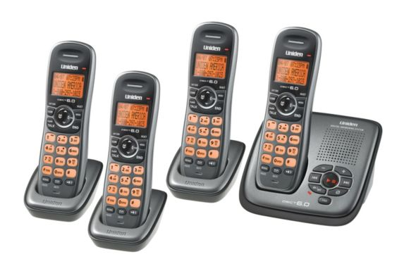Uniden 6.0 Phone System with Answering Machine, 4 Handsets Product image