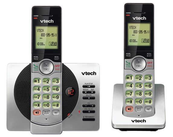 VTech 2 Handset Cordless Phones with Digital Answering System Product image