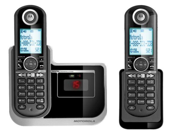 Téléphone sans fil Motorola 2 combinés avec répondeur Image de l'article