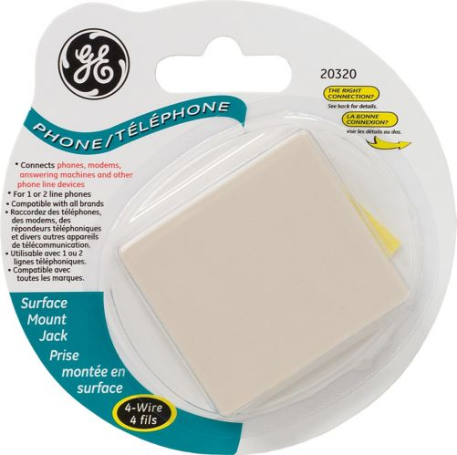 GE Surface Mount Jack, 4-Wire Product image