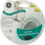 GE Phone Line Cord, White | GEnull