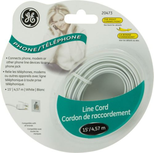 GE Phone Line Cord, White Product image