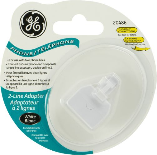 GE 2-Line Adapter, White Product image