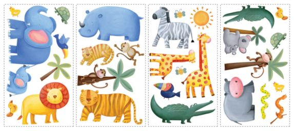 Jungle Adventures Wall Appliques Product image
