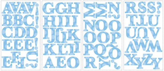 Letter Wall Appliques, Boy Product image