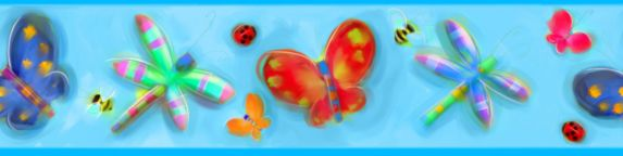 Jelly Bugs Wall Border, 5-in x 15-ft