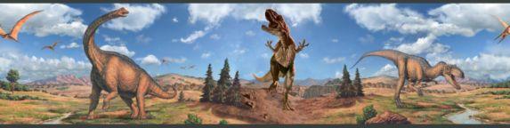 Bordure murale, dinosaures, 5 po x 15 pi Image de l'article