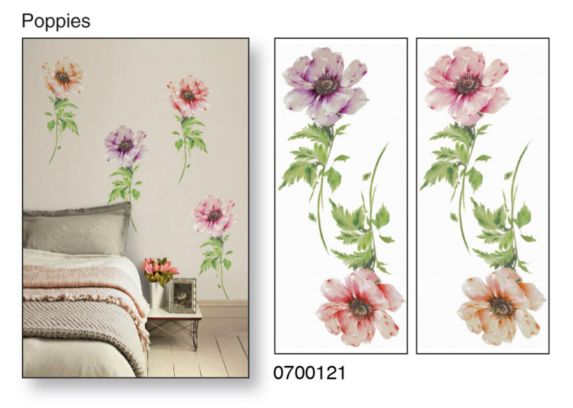 Snap! Instant Wall Art, Poppies