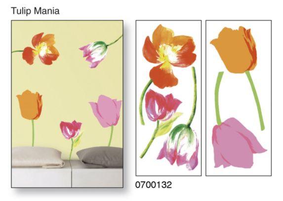 Applique murale Snap!, à peler et coller,  tulipes Image de l'article