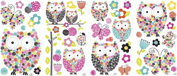 RoomMates Owl Peel & Stick Wall Decals
