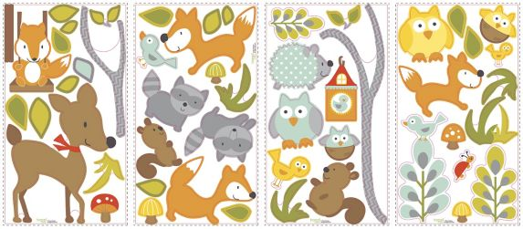RoomMates Woodland Animals Peel & Stick Wall Decals Product image