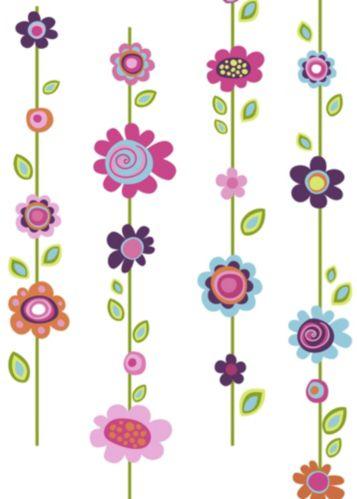 Décalcomanies murales géantes RoomMates fleurs Image de l'article
