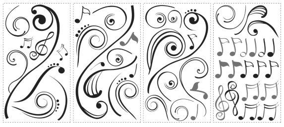 Décalcomanies murales RoomMates notes de musique Image de l'article