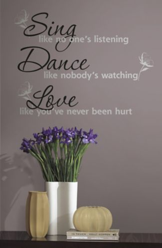RoomMates Sing, Dance, Love Peel & Stick Wall Decal Product image
