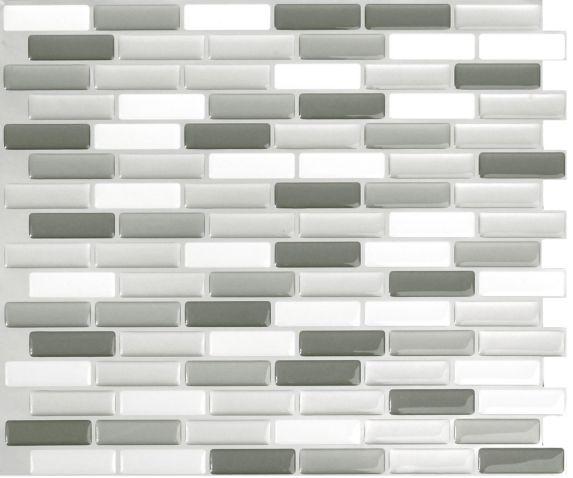 Peel & Impress Glass Oblong Vinyl Wall Tile, 4-pk Product image