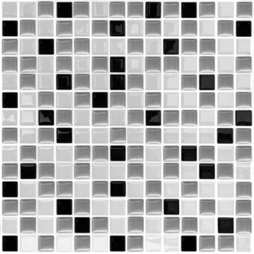 Peel & Impress White Steel Vinyl Wall Tile, 4-pk