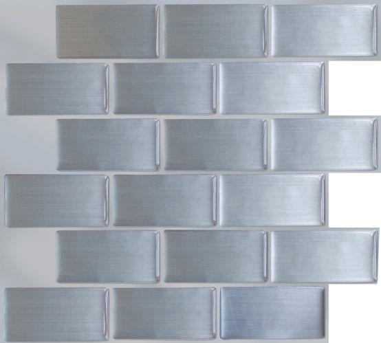 Peel & Impress Steel Subway Vinyl Wall Tile, 4-pk Product image