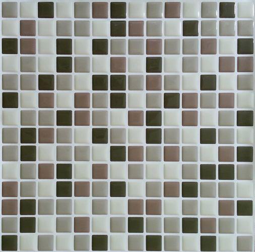 Peel & Impress Brown Mini Vinyl Wall Tile, 4-pk Product image
