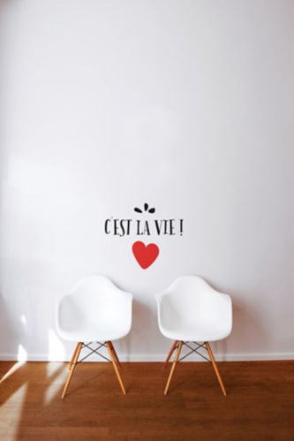 CANVAS Wall Decal, C'est la Vie