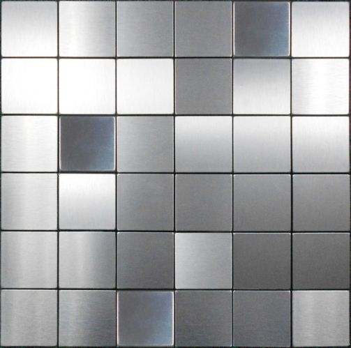 Stilest Mosaic Stainless Peel & Stick Tiles, 2-in Product image