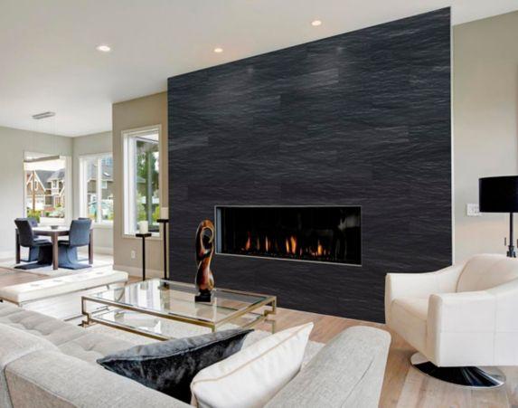 UltraStone Peel & Stick Backsplash Tiles, Galaxy Black Quartzite Product image