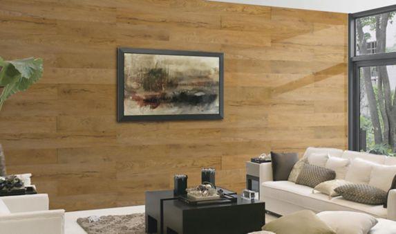 Panneaux muraux décoratifs en bois à peler et coller WallStyles, chêne blé d'automne Image de l'article
