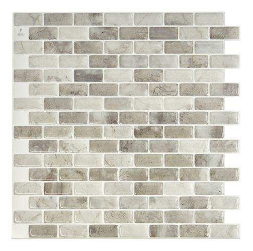 Carreaux à peler et coller Smart Tiles, Mandolia Alba Image de l'article